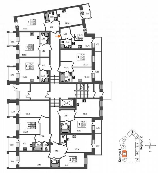 Студия, 22 кв.м., за 3489000 рублей