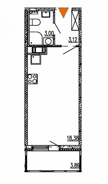 Студия, 24 кв.м., за 5190000 рублей, Московский, проезд 1-й Предпортовый, д. 13