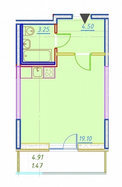 Студия, 28 кв.м., за 4700000 рублей, Приморский, ул. Парашютная, д. 42