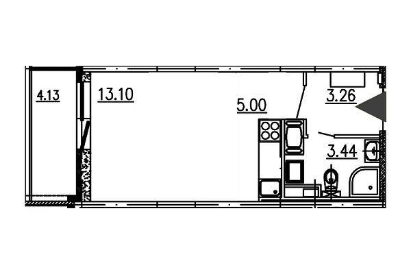 Студия, 24 кв.м., за 4100000 рублей, Приморский, ул. Верхне-Каменская, д. 7