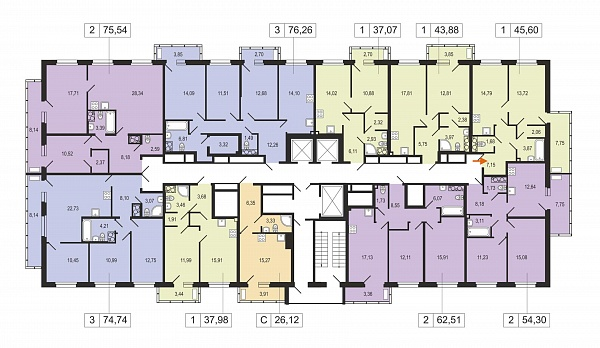 1-к квартира, 45 кв.м., за 6487525 рублей