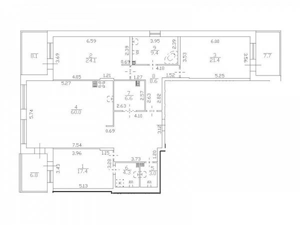 3-к квартира, 166 кв.м., улица Катерников, 8