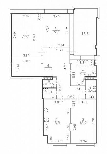 3-к квартира, 128 кв.м., улица Катерников, 8