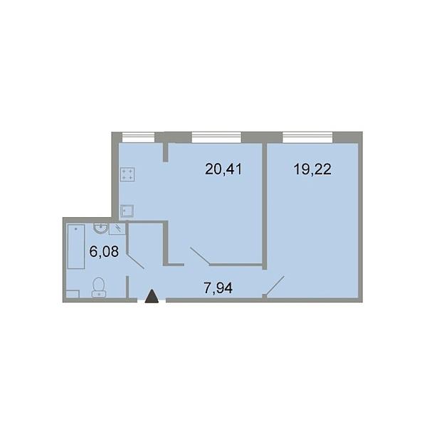 1-к квартира, 54 кв.м., Петергофское шоссе, 86к3