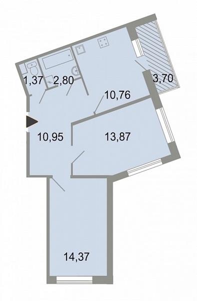 2-к квартира, 56 кв.м., Красносельский, ш. Петергофское, д. 86