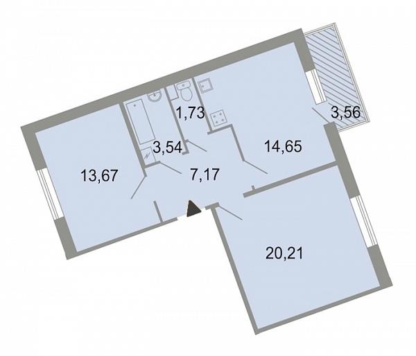 2-к квартира, 63 кв.м., Красносельский, ш. Петергофское, д. 86