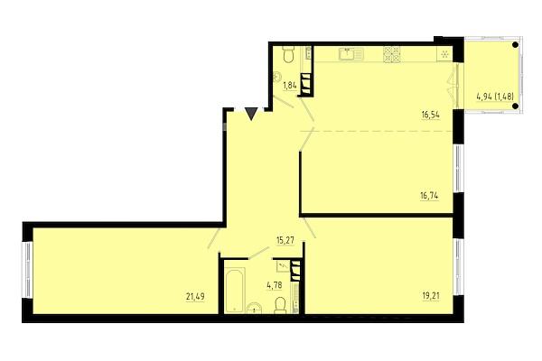 2-к квартира, 96 кв.м., территория Пулковское, Кокколевская улица, 9с3