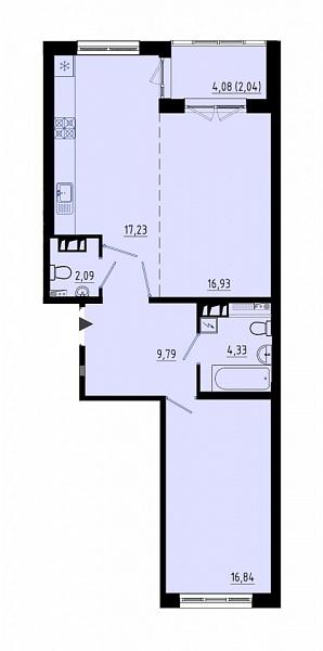 1-к квартира, 67 кв.м., за 8033000 рублей, Пушкинский, ул. Кокколевская, д. 9с2