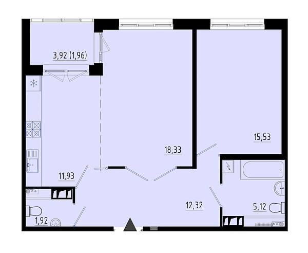 1-к квартира, 66 кв.м., за 7650540 рублей, Пушкинский, ул. Кокколевская, д. 9с3