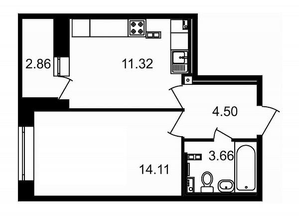 1-к квартира, 36 кв.м., за 6977776 рублей, Красногвардейский, пр-кт Пискаревский, д. 25