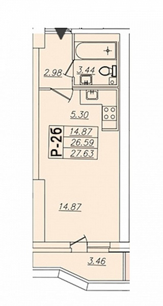 Студия, 27 кв.м., за 4487581 рублей, Выборгский, пр-кт Просвещения, д. 43