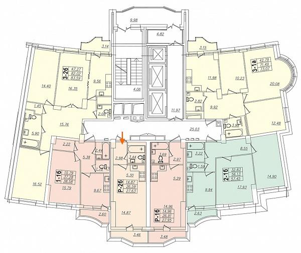 Студия, 27 кв.м., за 4487581 рублей