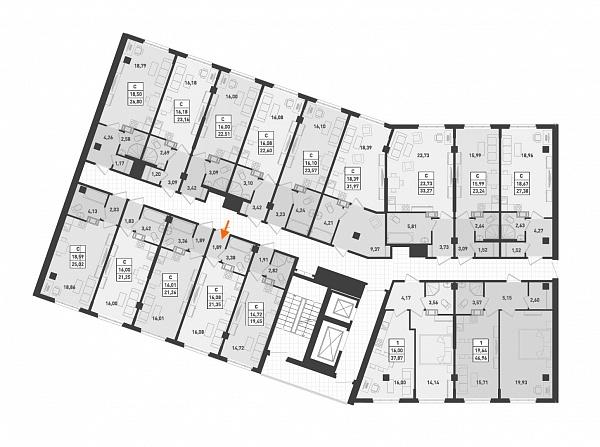 Студия, 21 кв.м., за 1921500 рублей