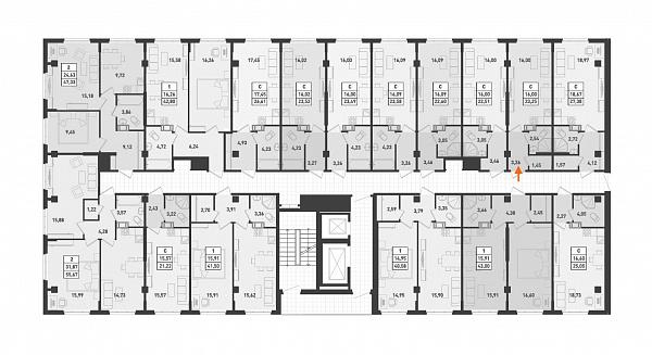 Студия, 23 кв.м., за 2046000 рублей