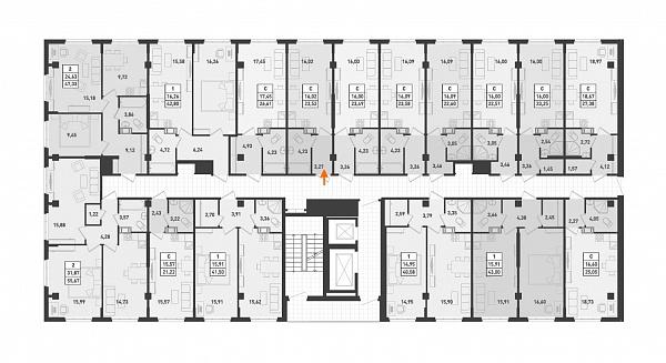 Студия, 23 кв.м., за 2069760 рублей