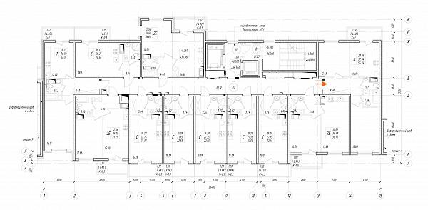 2 комнатная квартира  площадью: 52.94 кв.м