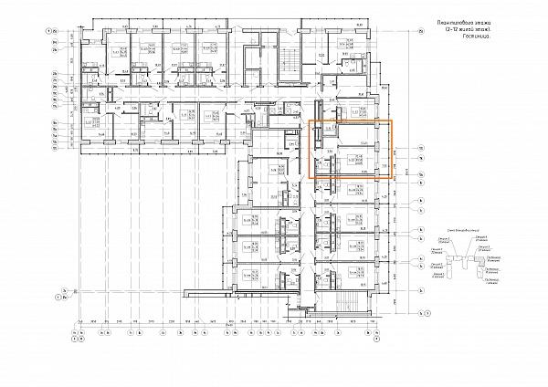 1 комнатная квартира  площадью: 38.1 кв.м