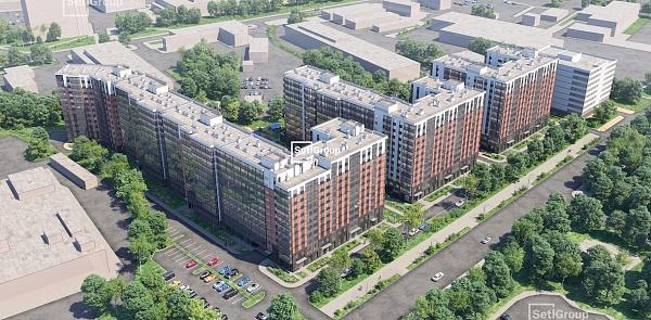 1 комнатная квартира  площадью: 31.96 кв.м