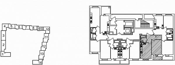 1 комнатная квартира  площадью: 41.7 кв.м