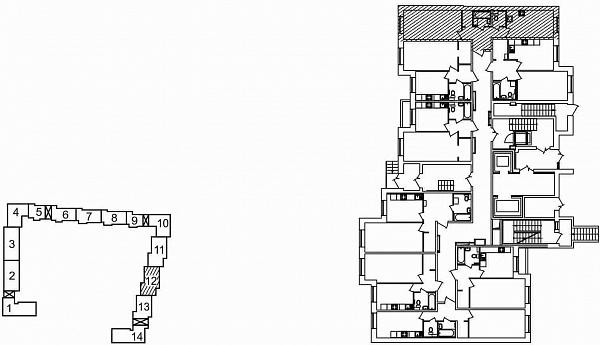 1 комнатная квартира  площадью: 42.98 кв.м