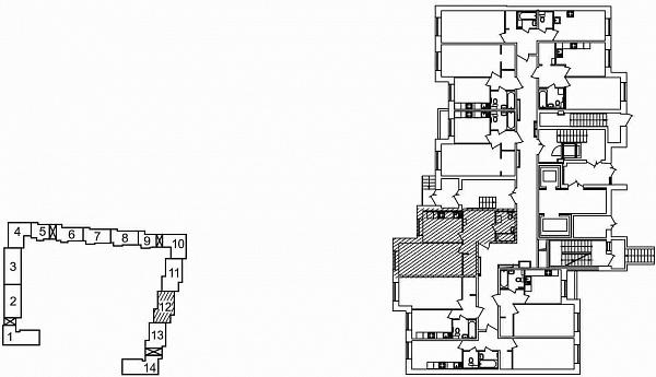 1 комнатная квартира  площадью: 43.81 кв.м
