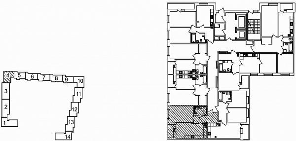 1 комнатная квартира  площадью: 44.71 кв.м