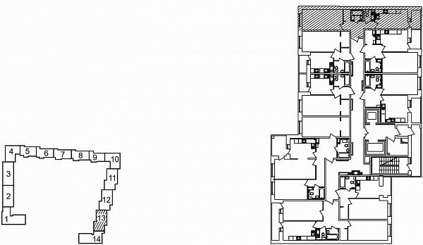 1 комнатная квартира  площадью: 46.18 кв.м