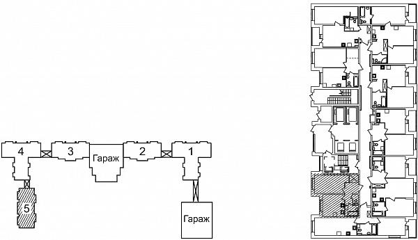 1 комнатная квартира  площадью: 39.62 кв.м