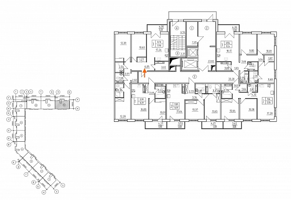 3 комнатная квартира  площадью: 77.9 кв.м