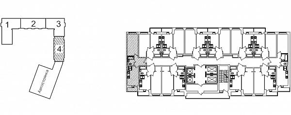 1 комнатная квартира  площадью: 38.15 кв.м