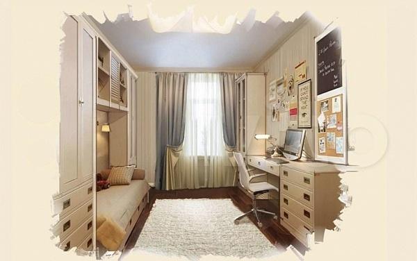 3-к квартира, 120 кв.м.
