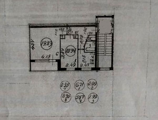 2-к квартира, 46 кв.м.